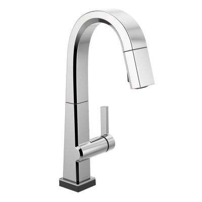 Pivotal Single-Handle Bar Faucet with Touch2O Technology and MagnaTite Docking in Chrome