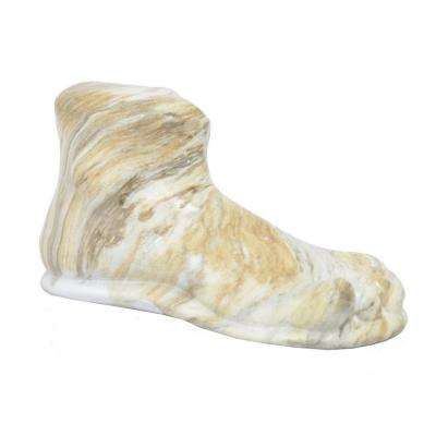 4.75 in. White Marble Look Decorative Foot