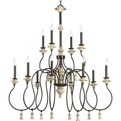 Bergamo Collection 12-Light Forged Bronze Chandelier