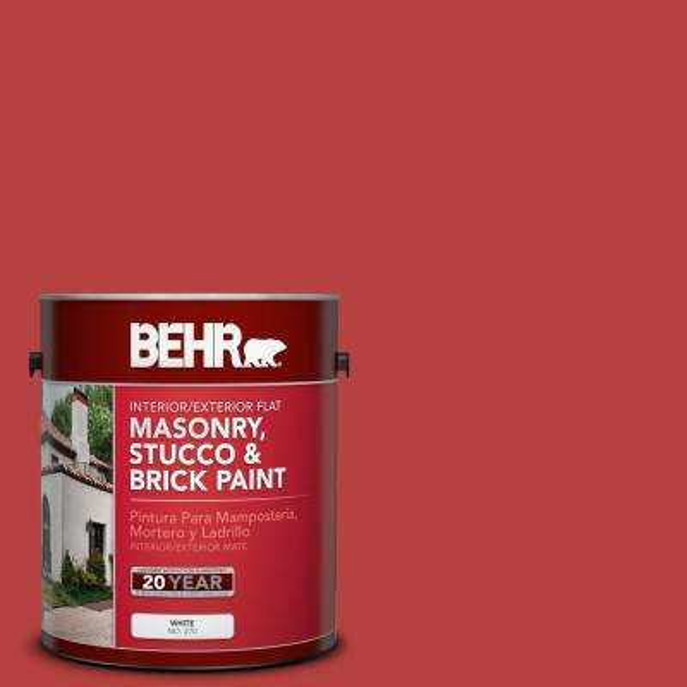 1 gal. #OSHA-5 Osha Safety Red Flat Interior/Exterior Masonry, Stucco and Brick Paint