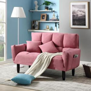 Remarkable Harper Bright Designs Pink Chic Loveseat Sleeper Sofa Pdpeps Interior Chair Design Pdpepsorg