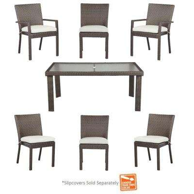 Beverly 7-Piece Patio Dining Set with Cushion Insert (Slipcovers Sold Separately)