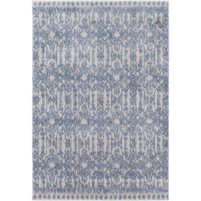 Baylee Sky Blue 7 ft. 10 in. x 10 ft. 10 in. Area Rug