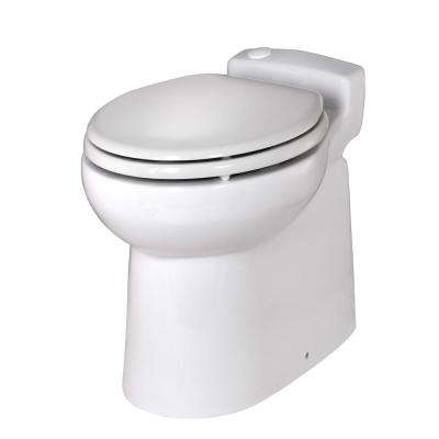 Sanimarin 48 1-Piece 2.9 GPF Dual Flush Elongated Bowl 12-Volt Macerating Toilet System in White for Boat or RV
