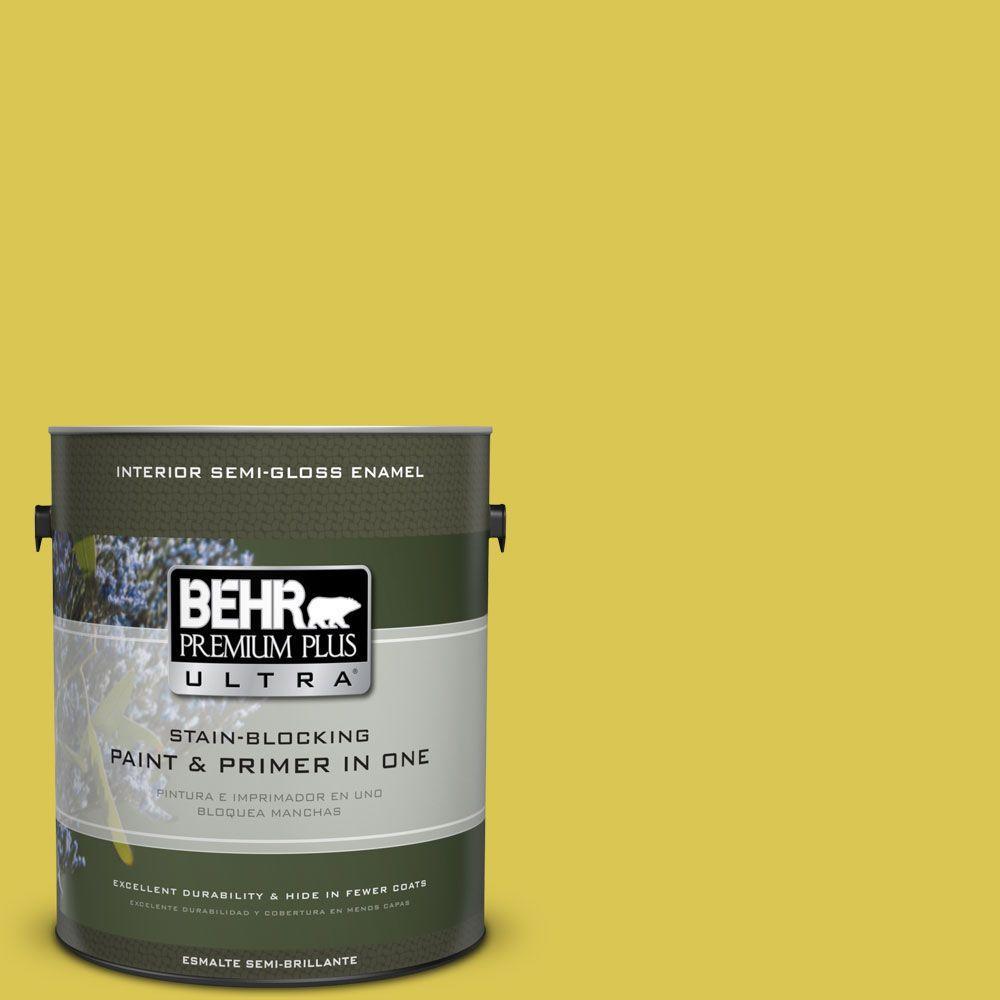 1 gal. #HDC-SM16-10 Pepperoncini Semi-Gloss Enamel Interior Paint