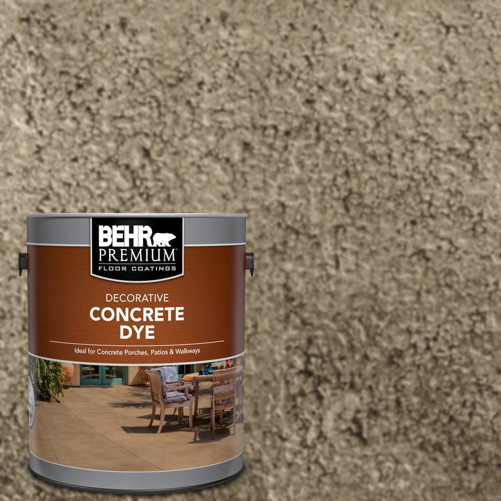 Behr Premium 1 Gal Cd 830 Terrazzo Tan Interior Exterior Concrete Dye 86301 The Home Depot