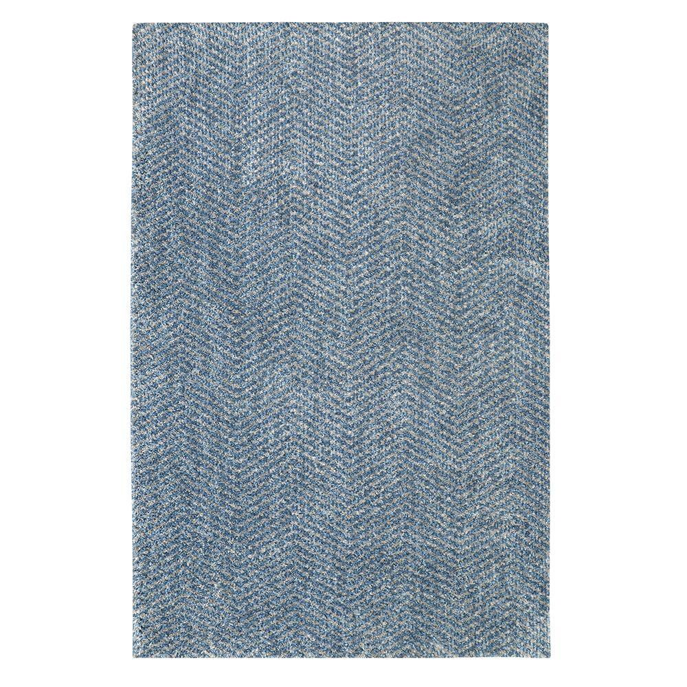 Clinton Blue 8 ft. x 10 ft. Indoor/Outdoor Area Rug