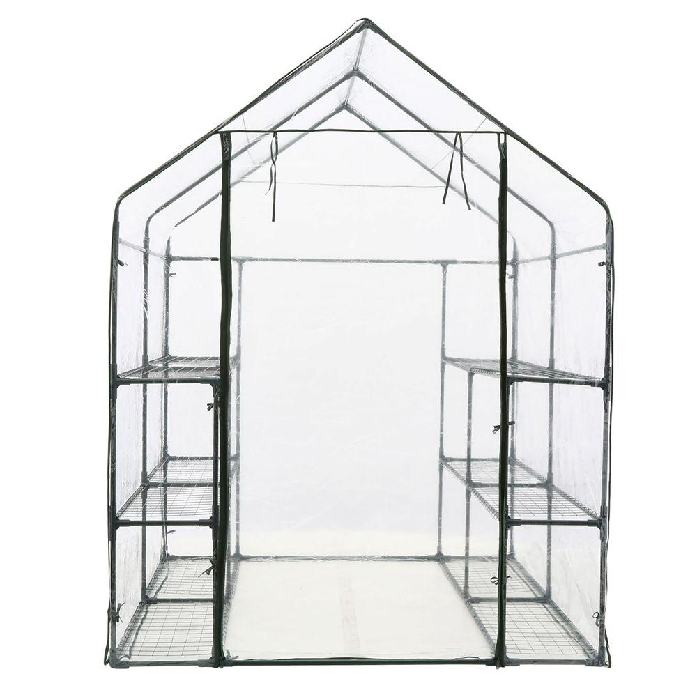 4.85 ft. x 4.80 ft. x 6.4 ft. Bloom Large Greenhouse