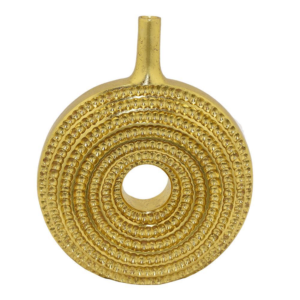 Gold Resin Textured Decorative Vase