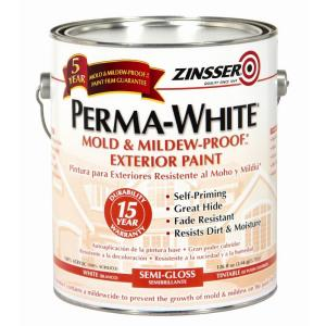 Zinsser 1 qt. Perma-White Mold and Mildew-Proof White Semi-Gloss Exterior Paint (Case of 6) by Zinsser