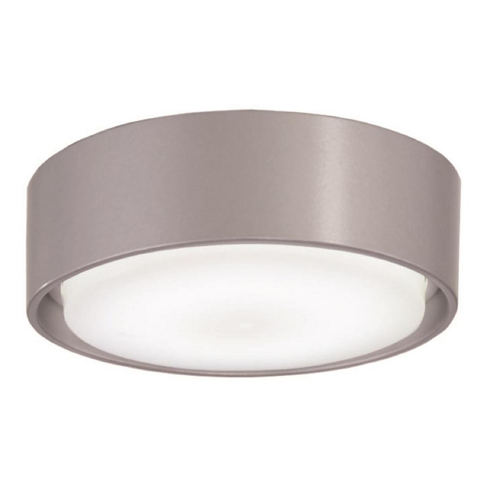 Simple 1-Light LED Silver Ceiling Fan Light Kit