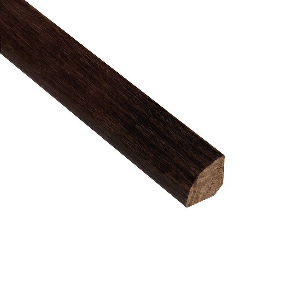 Home Legend Strand Woven Espresso 3/4 in. Thick x 3/4 in. Wide x 94 in. Length Bamboo Quarter Round Molding