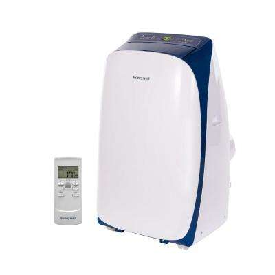 HL Series 14,000 BTU, 115-Volt Portable Air Conditioner with Dehumidifier and Remote Control in White and Blue