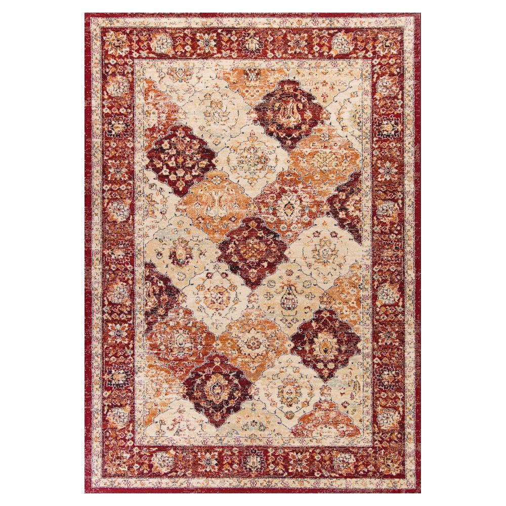 Kas Rugs Bob Mackie Vintage Garnet Treasures 5 ft. x 8 ft. Area Rug, Red Choose the Kas Rugs 5 ft. x 8 ft. Area Rug to tie any area together. This rug is made with stain-resistant fabrics and has fade-resistant materials. It comes in a red shade, bringing a spectacular look to your space. It has an oriental print, so you can elevate the feel of your home with a classic elegance. With a 100% polypropylene design, this rug will offer unbeatable style and comfort to any room. Color: Garnet.