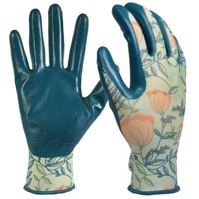 Women's Medium Nitrile Coated Garden Gloves