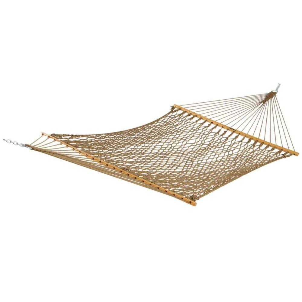 13 ft. Large Duracord Rope Hammock Tan