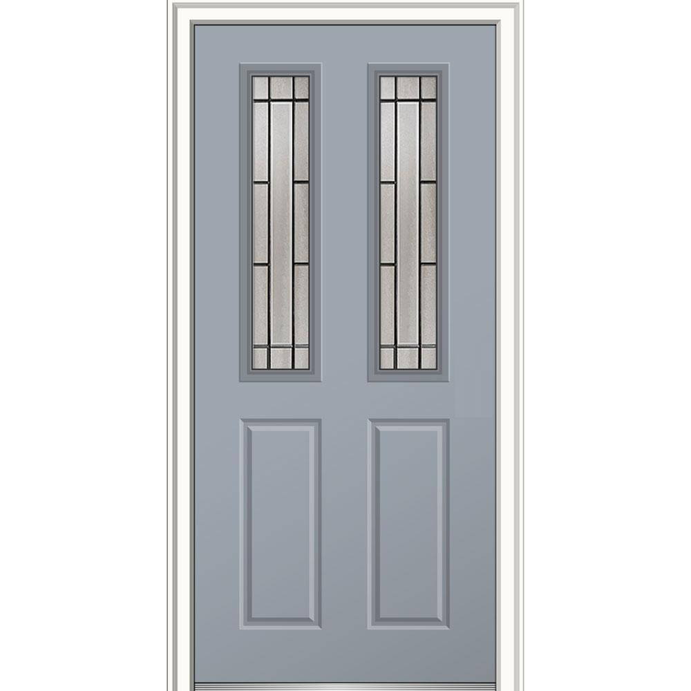 Mmi door 36 in x 80 in solstice glass left hand 2 1 2 for Prehung exterior doors with storm door
