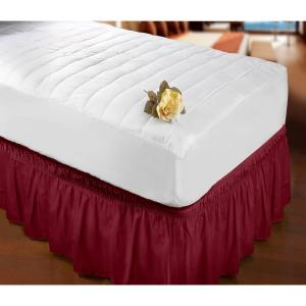 Burgundy Queen/King Bed Ruffle