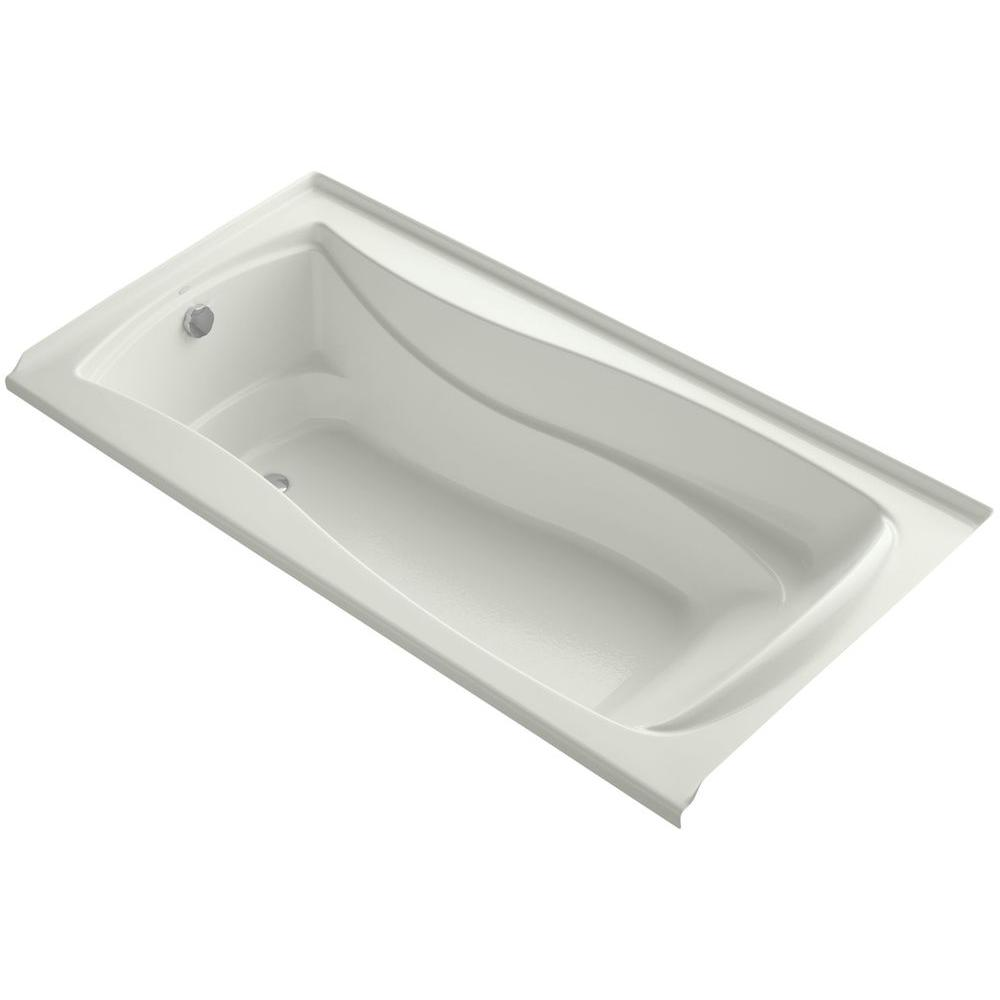 KOHLER Mariposa 6 ft. Left Drain Soaking Tub in Dune with Bask ...