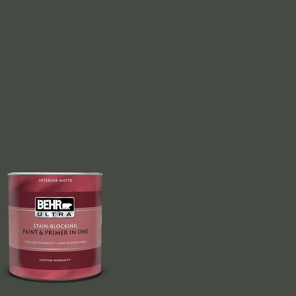 Behr Ultra 1 Qt Ppf 55 Forest Floor Matte Interior Paint
