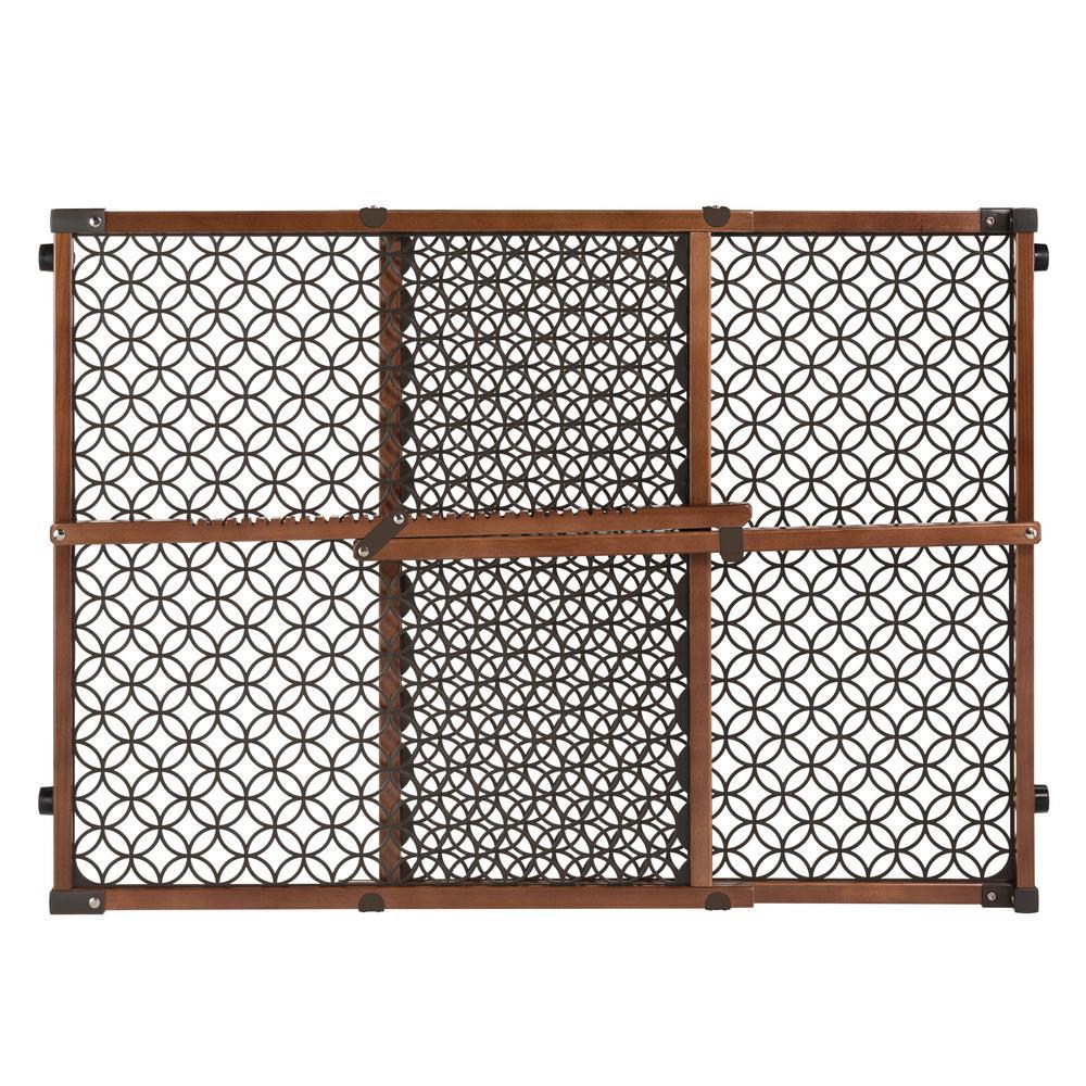 24 in. H. Secure Pressure Mount Wood and Plastic Deco Gate - Walnut