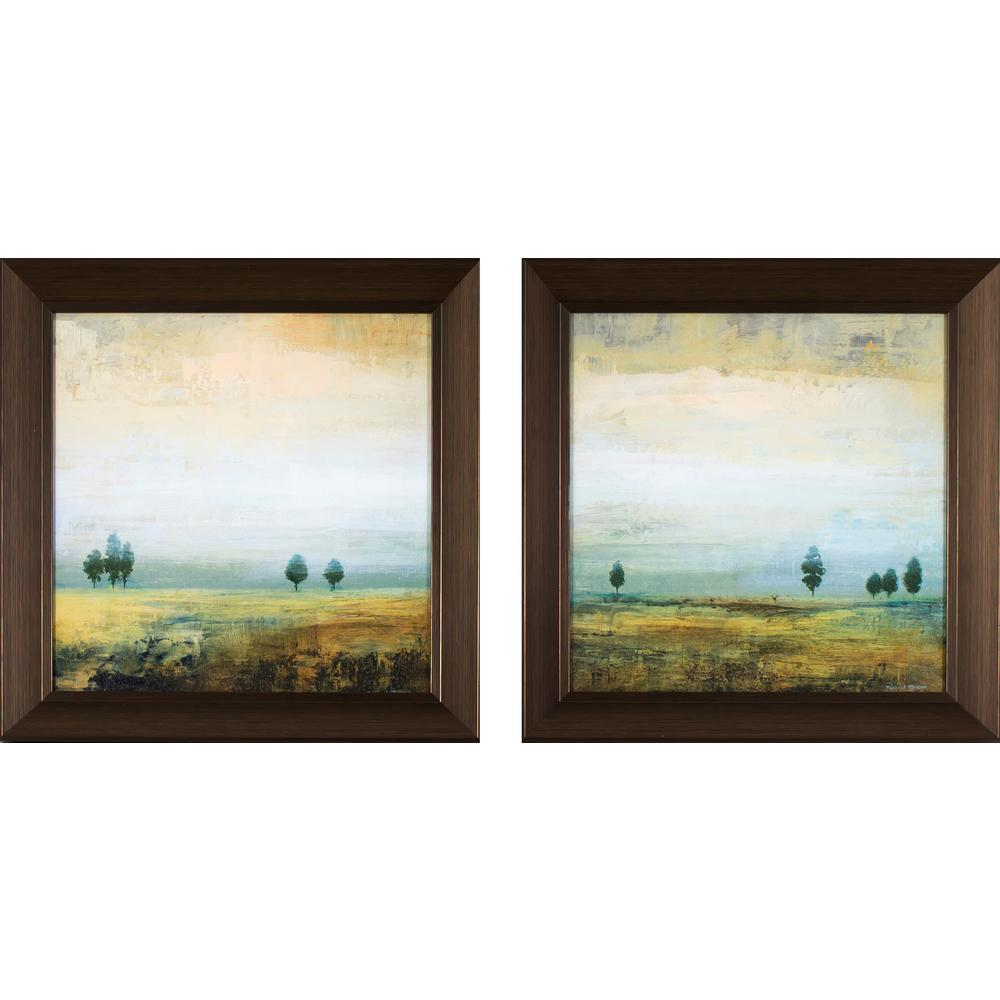 14.25 in. x 14.25 in. In the Distance Landscapes Printed Framed