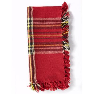 Fireside 18 in. x 18 in. Red Tartan Plaid Cotton Napkins (Set of 4)