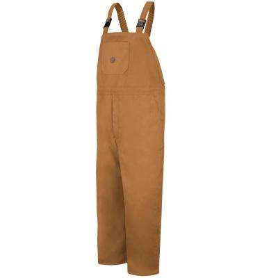 Men's 4X-Large Brown Duck Insulated Blended Duck Bib Overall