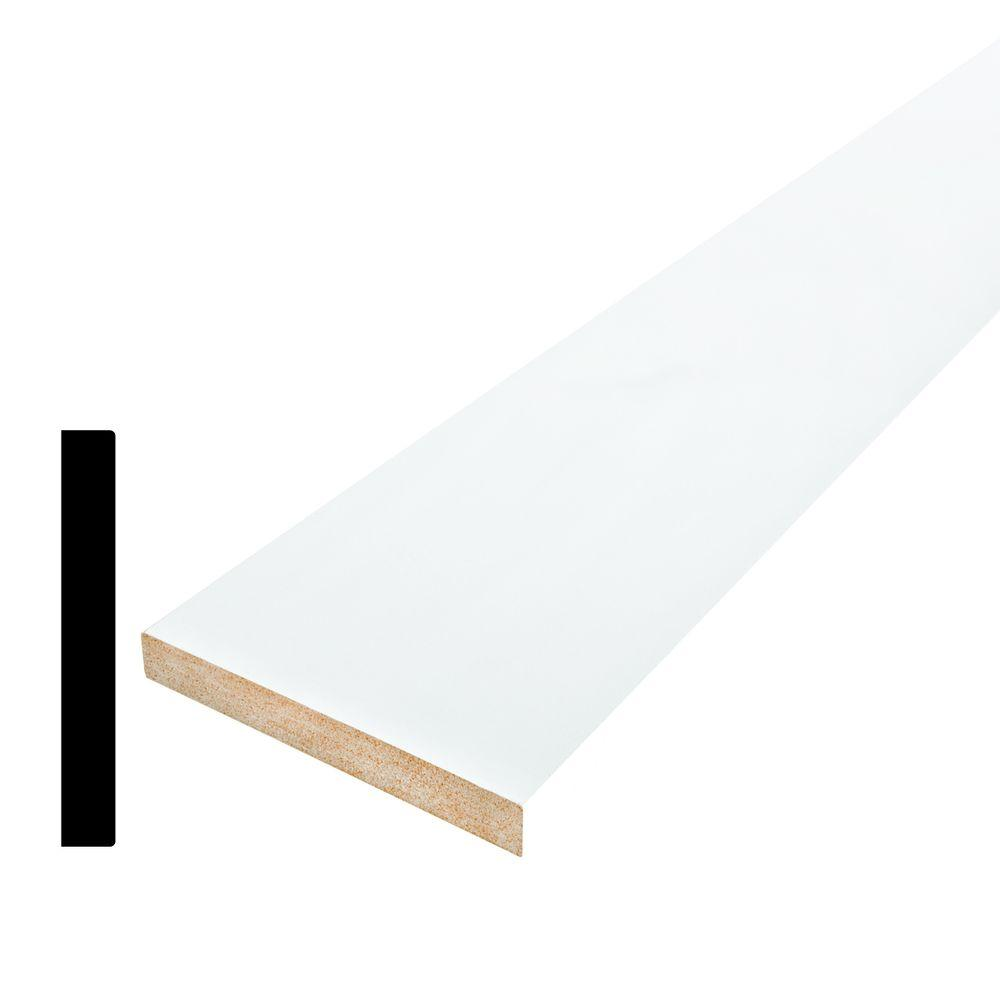 Alexandria Moulding 1/2 in. x 5-1/2 in. Primed MDF Base Moulding ...