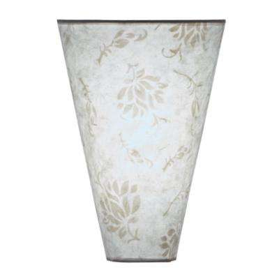 Moire White Pattern Indoor Fabric Shade Sconce and Timer with Memory