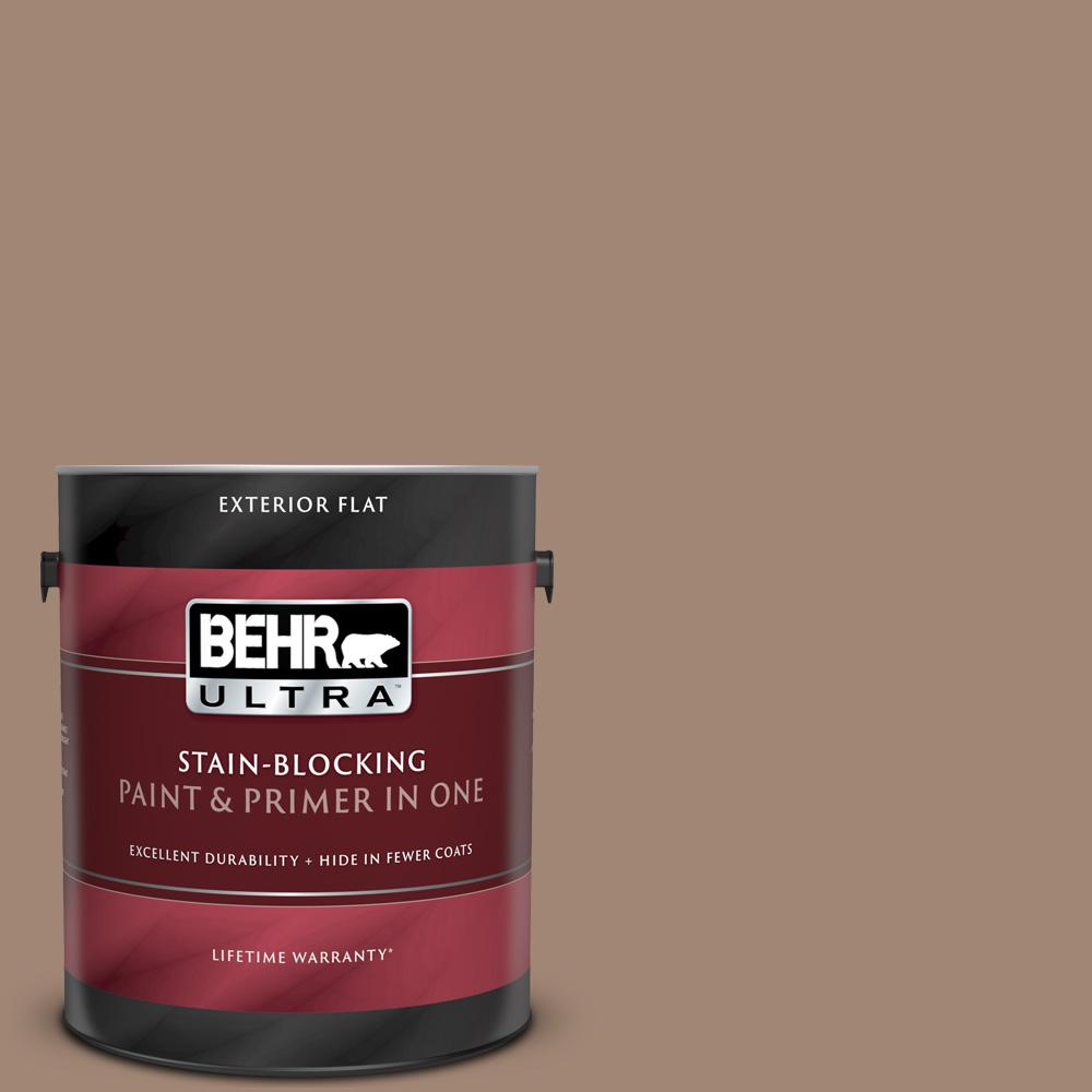 Reviews For Behr Ultra 1 Gal Qe 22 Terrazzo Brown Flat Exterior Paint And Primer In One 485301 The Home Depot