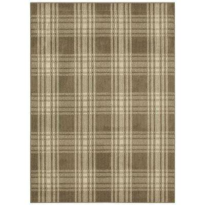 Erickson Plaid Oyster Frost 6 ft. x 9 ft. Area Rug