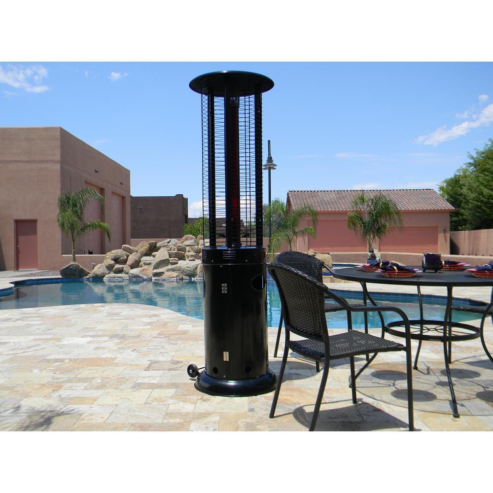 Midnight Black Edition 44,000 BTU Round Propane Infrared Flame Patio Heater