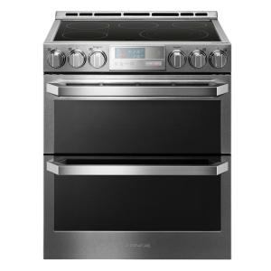 stainless steel lg signature double oven electric ranges lute4619sn 64_300 lg signature 7 3 cu ft double oven smart slide in electric range