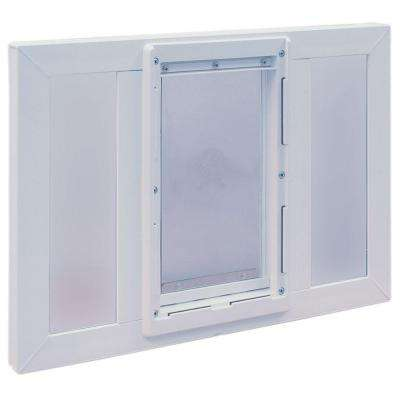5 in. x 7 in. Small Original Pet Door with Vinyl Frame