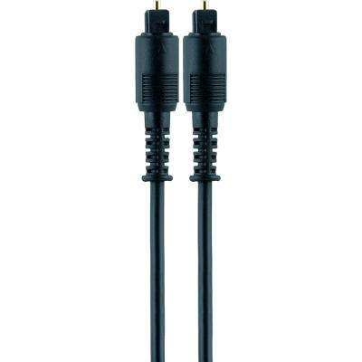 12 ft. Cord Digital Toslink Fiber Optic Audio Cable and Mini Toslink Adapters, Black