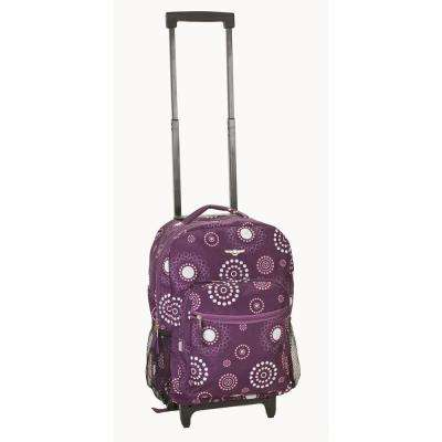Rockland Roadster 17 in. Rolling Backpack, Purplepearl