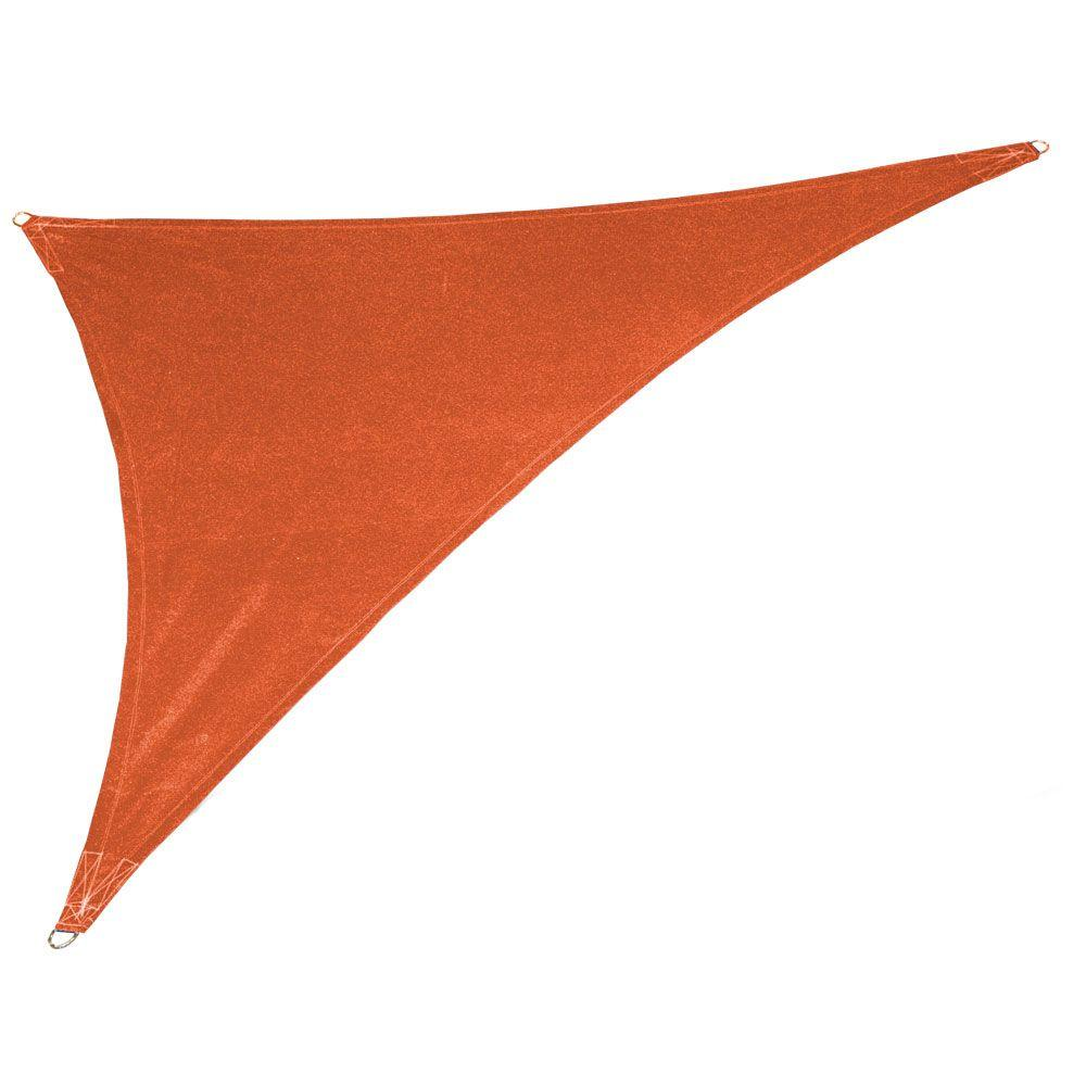 c2a0d1905969 Coolaroo 15 ft. x 19 ft. x 24 ft. Terracotta Right Triangle Ultra ...