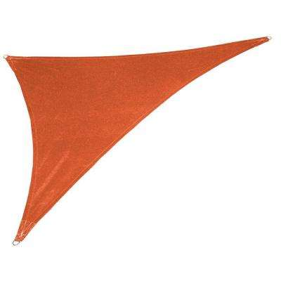 15 ft. x 19 ft. x 24 ft. Terracotta Right Triangle Ultra Shade Sail with Kit