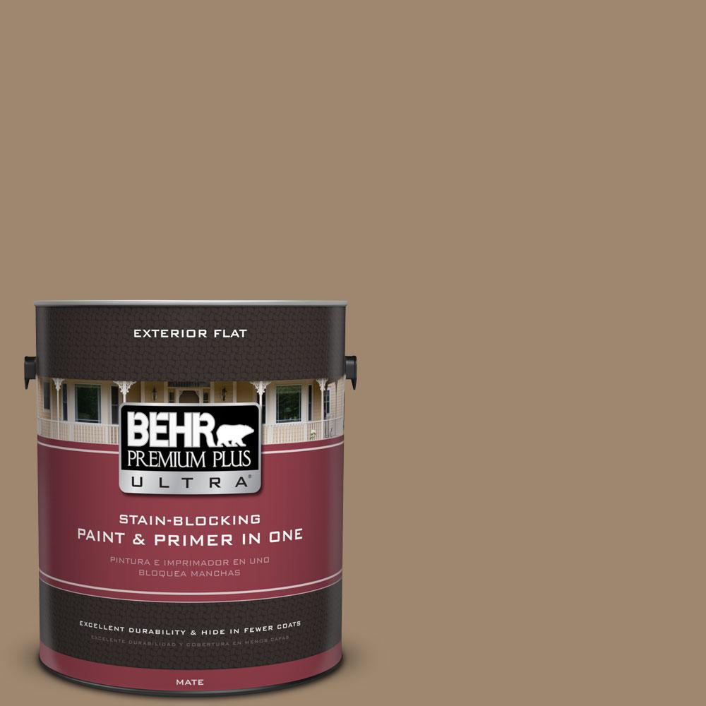BEHR Premium Plus Ultra 1-gal. #700D-5 Toffee Crunch Flat Exterior Paint