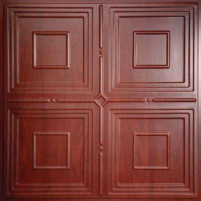 Jackson Faux Wood Cherry 2 Ft X 2 Ft Lay In Or Glue Up Ceiling Panel Case Of 6