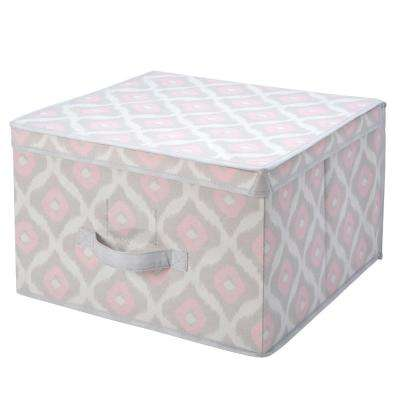 16 in. x 16 in. x 10 in. Jumbo Storage Box in Ikat