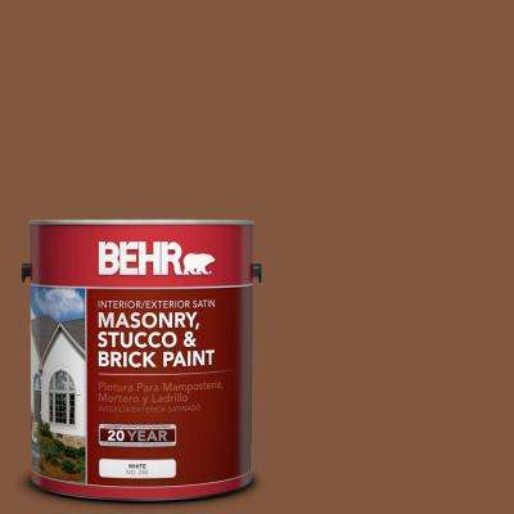 1 gal. #BXC-42 Bricktone Satin Interior/Exterior Masonry, Stucco and Brick Paint