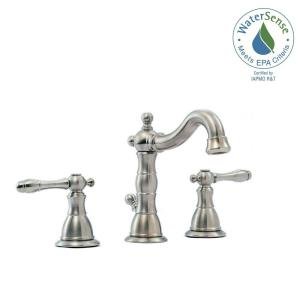 Glacier Bay Lyndhurst 8 inch Widespread 2-Handle High-Arc Bathroom Faucet in Brushed Nickel by Glacier Bay