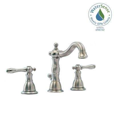 Lyndhurst 8 in. Widespread 2-Handle High-Arc Bathroom Faucet in Brushed Nickel