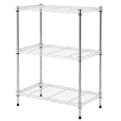 Chrome Wire 3-Shelf Unit 24 in. x 14 in. x 30 in.