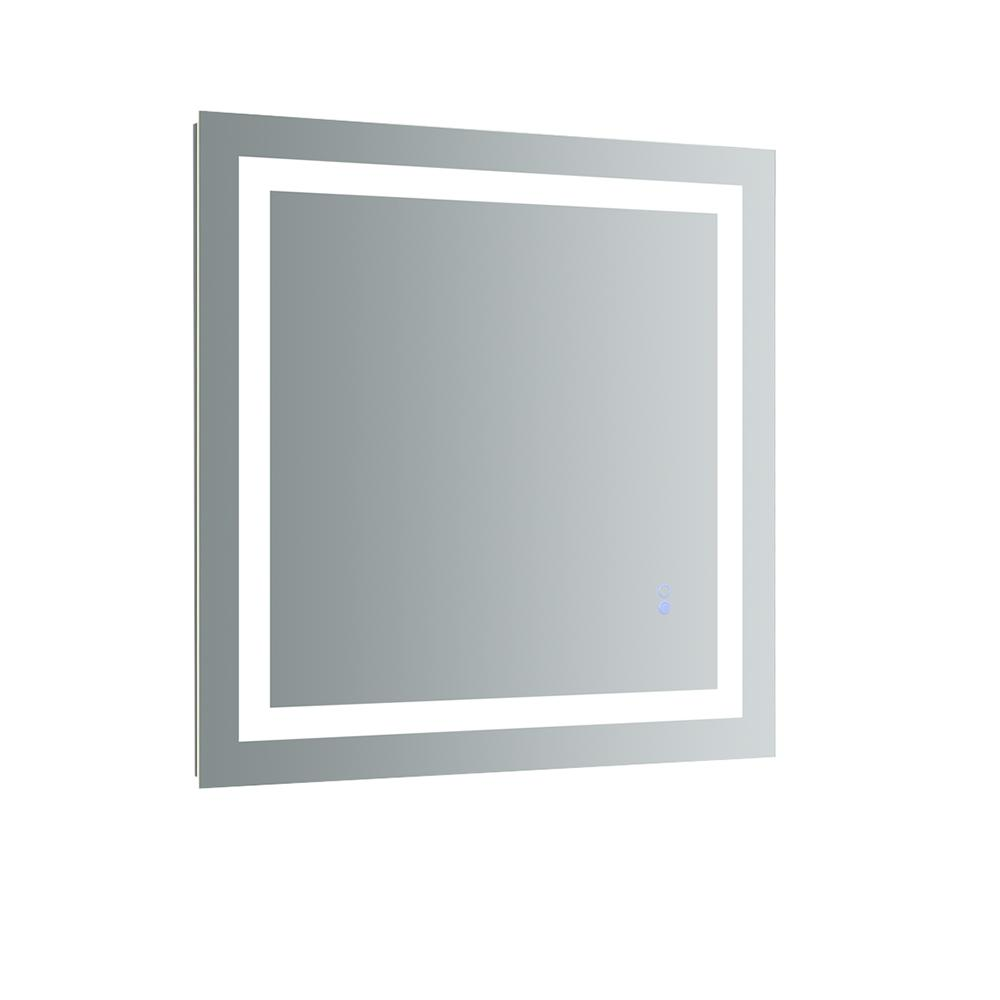 H Frameless Single Bathroom Mirror With