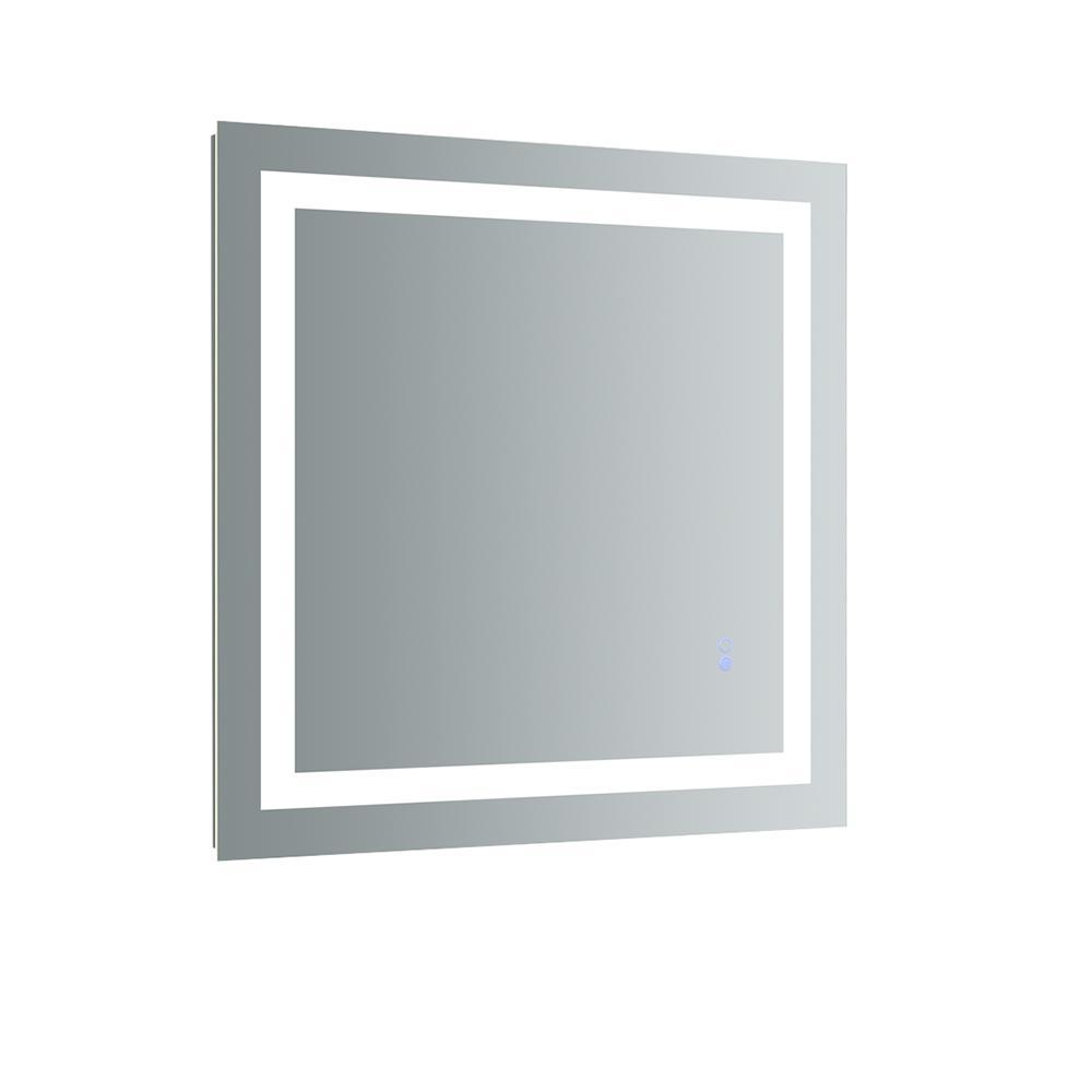 Santo 30 in. W x 30 in. H Frameless Square LED Light Bathroom Vanity Mirror