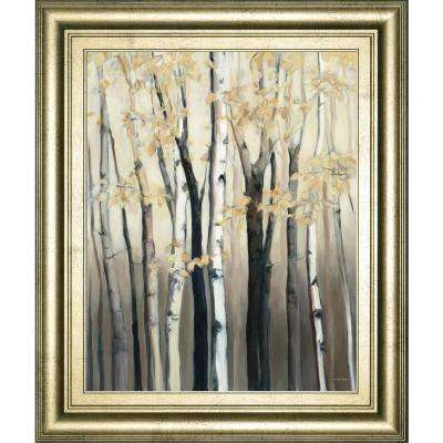 """22 in. x 26 in. """"Golden Birch I"""" by Julia Purinton Framed Printed Wall Art"""