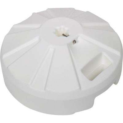 Plastic patio base 16 in. Dia x 9 in. oah in white